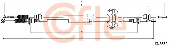 Seilzug, Schaltgetriebe COFLE 15.2882