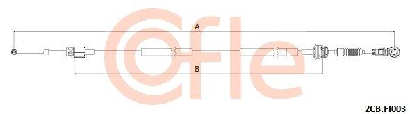 Seilzug, Schaltgetriebe links COFLE 2CB.FI003